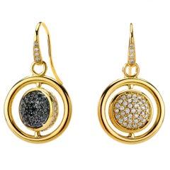 Syna Yellow Gold Chakra Swivel Earrings