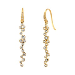 Syna Yellow Gold Champagne Bubbles Earrings