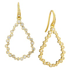 Syna Yellow Gold Champagne Diamond Bubbles Earrings
