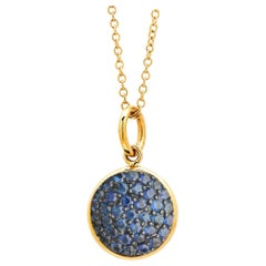 Syna Yellow Gold Charm Pendant with Blue Sapphires