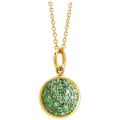 Syna Yellow Gold Charm Pendant with Tsavorite