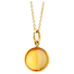 Syna Yellow Gold Citrine Chakra Charm Pendant