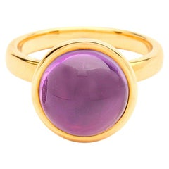 Syna Yellow Gold Large Amethyst Ring