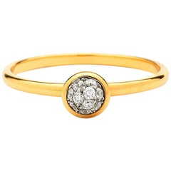 Syna Yellow Gold Mini Diamond Pave Ring
