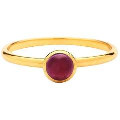 Syna Yellow Gold Mini Rubellite Ring