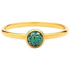 Syna Yellow Gold Mini Tsavorite Pavé Ring
