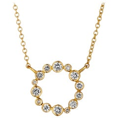 Syna Yellow Gold Necklace with Champagne Diamonds