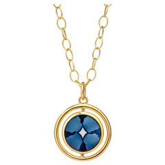 Syna Yellow Gold Reversible Cameo Pendant with Black Diamonds