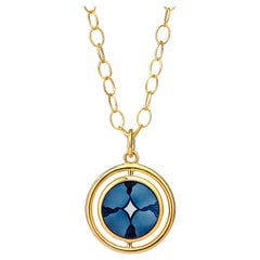 Syna Yellow Gold Reversible Cameo Pendant with Champagne Diamonds