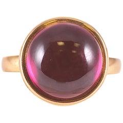 Syna Yellow Gold Rhodolite Garnet Ring