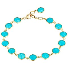 Syna Yellow Gold Sleeping Beauty Turquoise Bracelet