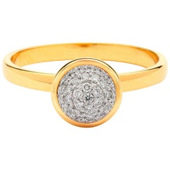 Syna Yellow Gold Small Diamond Pave Ring