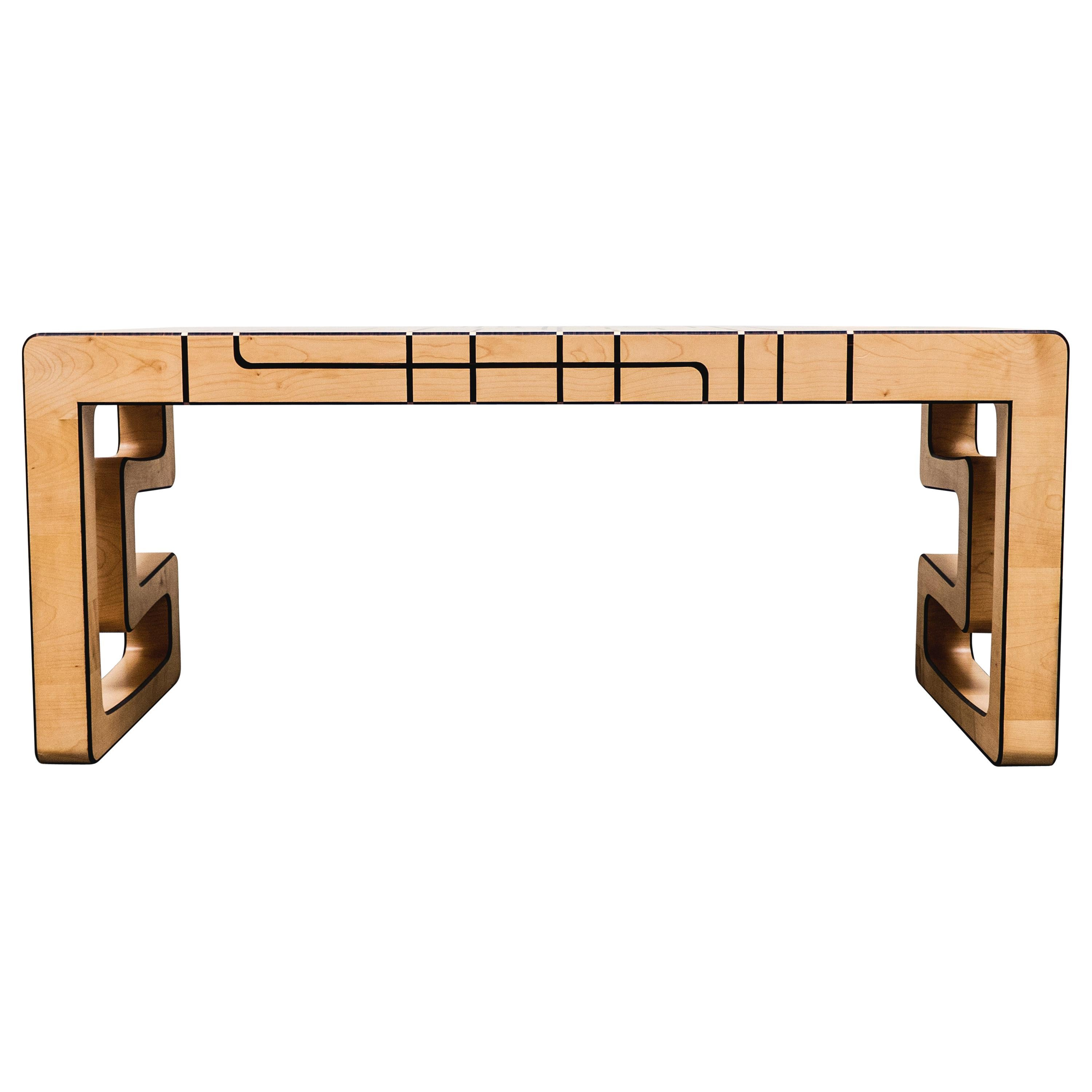 """""""Synchronicity"""" Desk, Maple and Brown Walnut by Ivan Paradisi"""