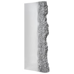 Synthesis Monolith Monumental Mirror, Polished Stainless Steel Standing Mirror