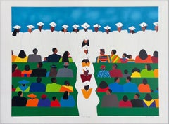 WITH HONORS Signed Lithograph, Graduation Ceremony, Multicultural Education