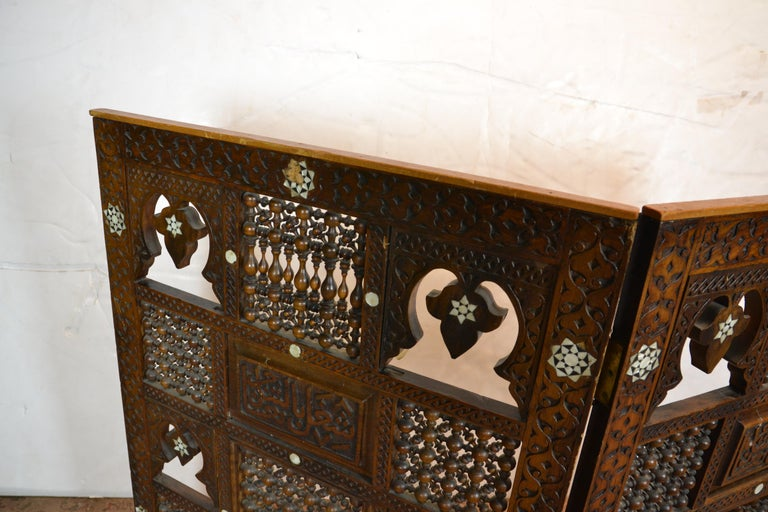 Mid-20th Century Syrian 2-Panel Tabletop Screen