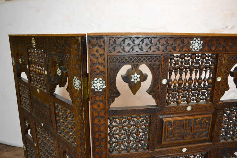 Mother-of-Pearl Syrian 2-Panel Tabletop Screen