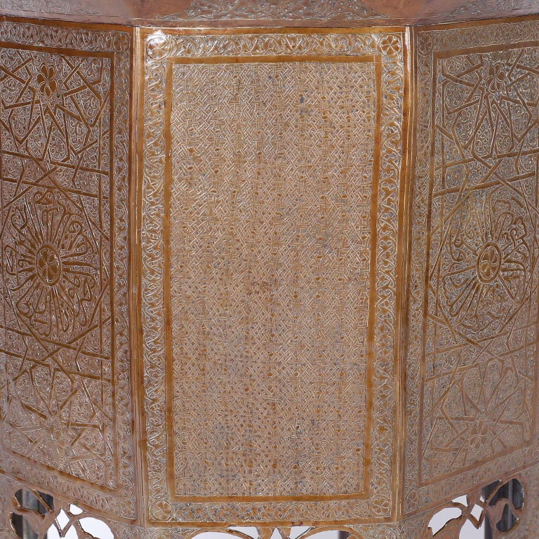 Syrian Brass Stand or Table In Good Condition For Sale In Palm Beach, FL