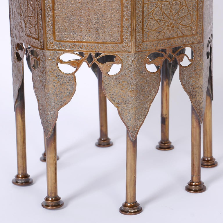 20th Century Syrian Brass Stand or Table For Sale