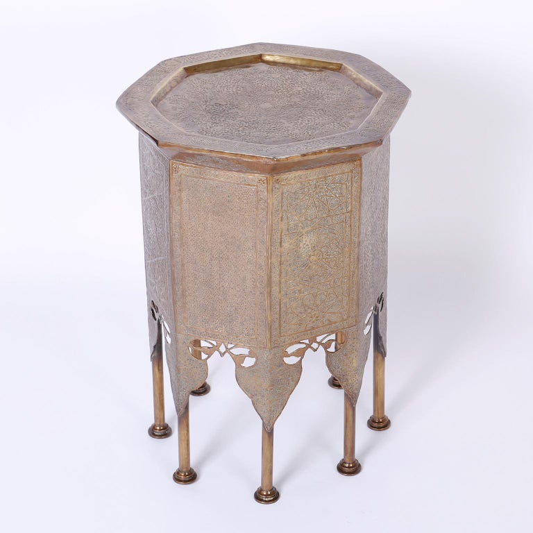 Syrian Brass Stand or Table For Sale 1