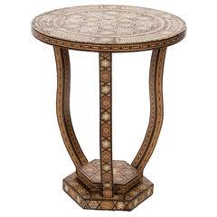 Syrian Circular Side Table, circa 1960s