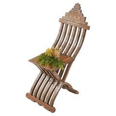Syrian Folding Chair Islamic Antique Furniture Damascan 1860