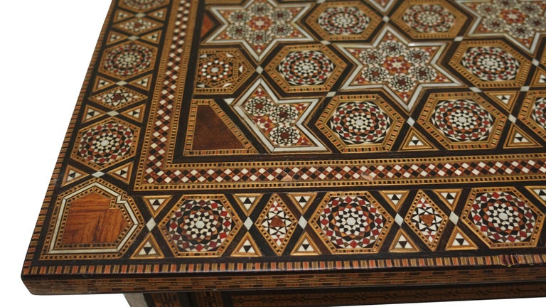 Syrian Geometric Inlaid Side Table, circa 1950 For Sale 3