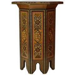 Syrian Inlaid End Table