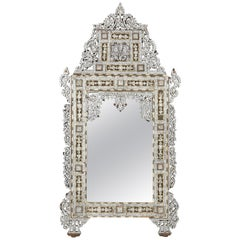 Syrian Levantine Mother of Pearl Inlaid Mirror, Late 19th-Early 20th Century