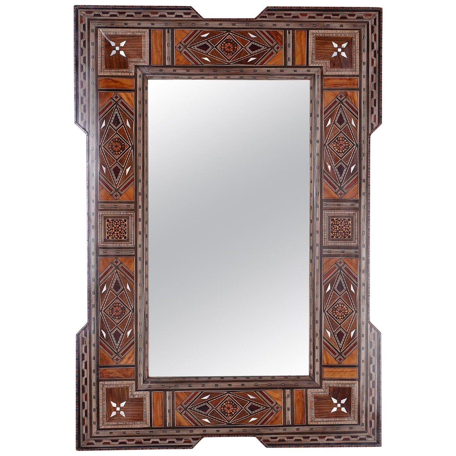Syrian Mother Of Pearl Inlaid Wall Mirror At 1stdibs