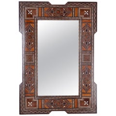 Syrian Mother-of-Pearl Inlaid Wall Mirror