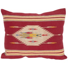 Syrian Pillow Case Fashioned from a Tapestry Weave Pillow Top Early 20th Century