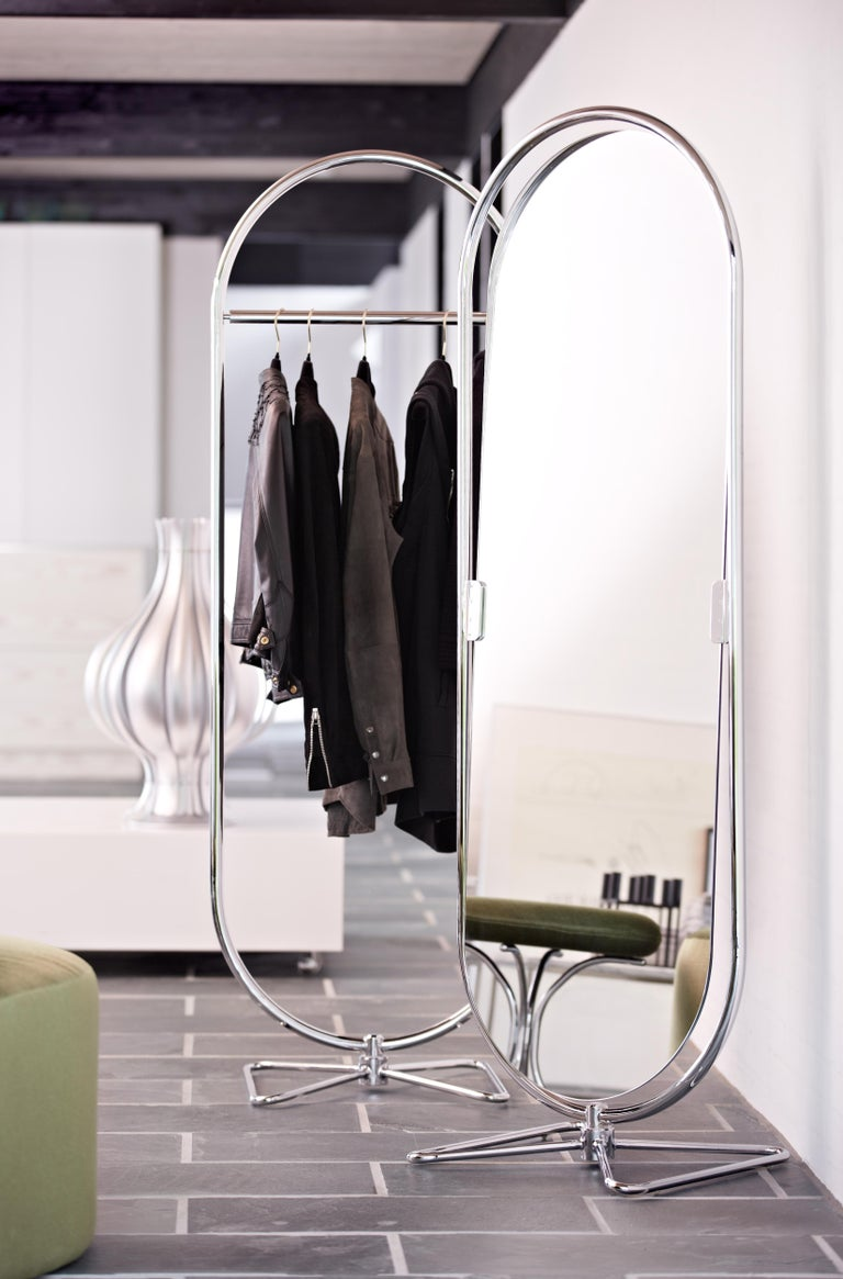 Steel System 1-2-3 Mirror with Chrome Fram by Verner Panton For Sale