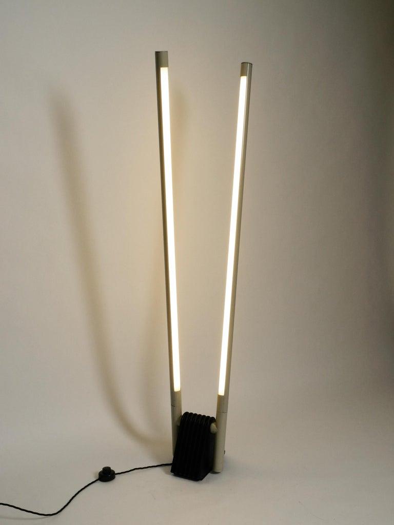 Post-Modern Systema Flu Neon Tube Floor Lamp Design Rodolfo Bonetto for Luci, 1981 For Sale