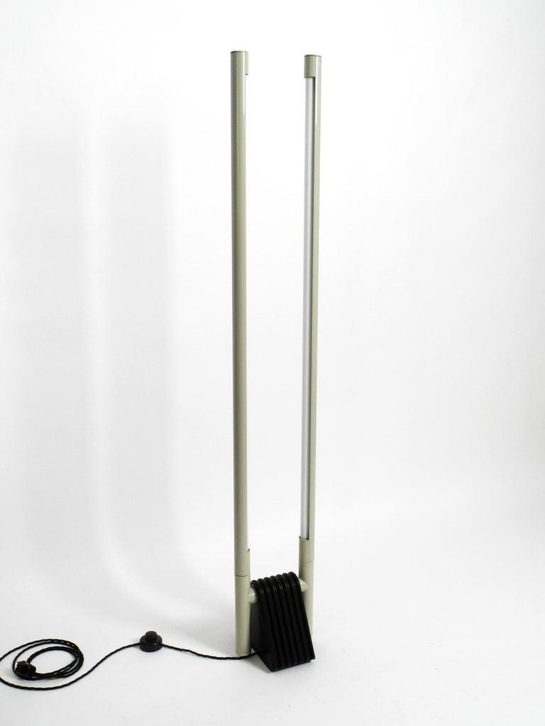 Italian Systema Flu Neon Tube Floor Lamp Design Rodolfo Bonetto for Luci, 1981 For Sale