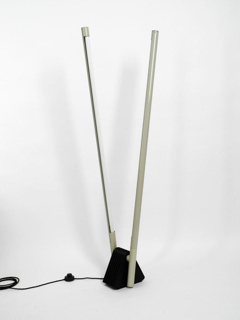 Systema Flu Neon Tube Floor Lamp Design Rodolfo Bonetto for Luci, 1981 In Good Condition For Sale In München, DE