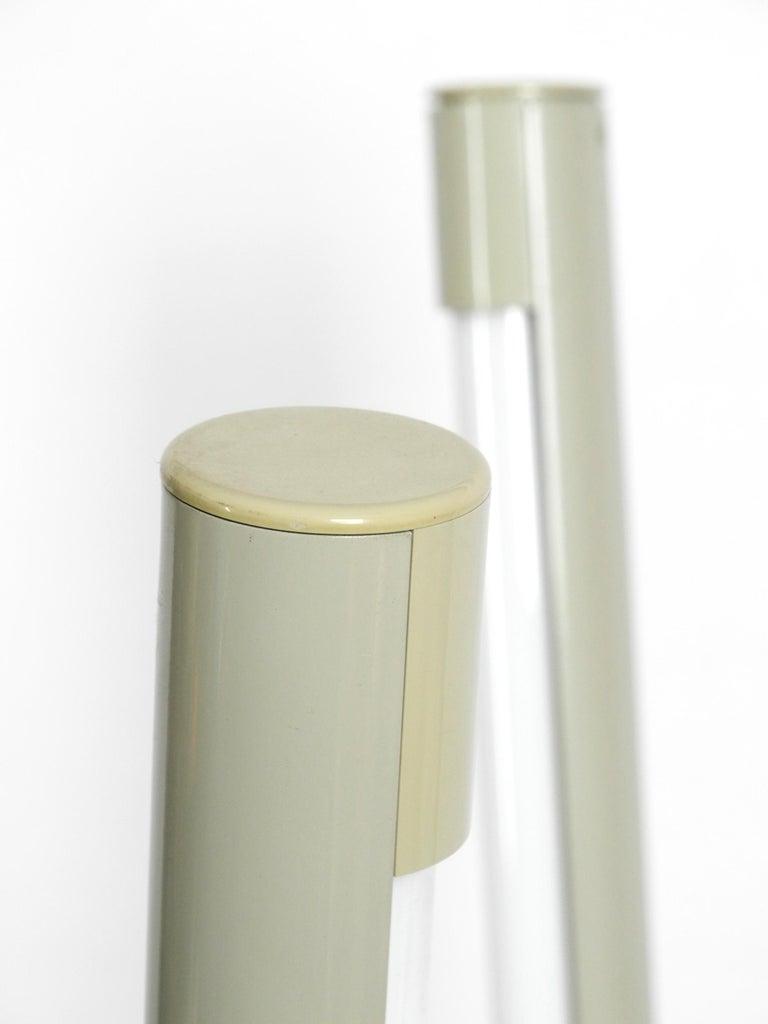 Metal Systema Flu Neon Tube Floor Lamp Design Rodolfo Bonetto for Luci, 1981 For Sale
