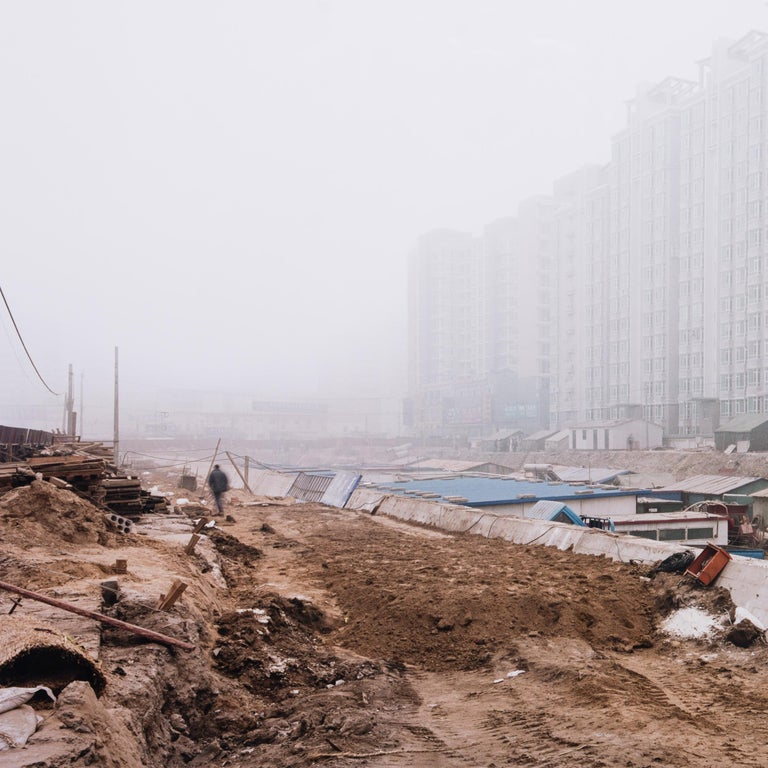 Xizhimen, Haidian District, Beijing - Gray Landscape Photograph by Sze Tsung Leong