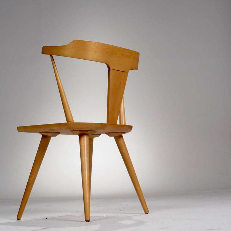 Maple T-Back Planner Group Chair by Paul McCobb for Winchendon For Sale