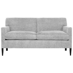 T-Back Upholstered Sofa in Wool, Vica Designed by Annabelle Selldorf