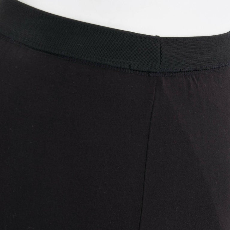 T BY ALEXANDER WANG black modal spandex draped hem elasticated waist skirt XS For Sale 2