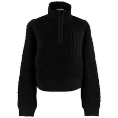 T by Alexander Wang Black Wool Blend Fleece Sweater XS