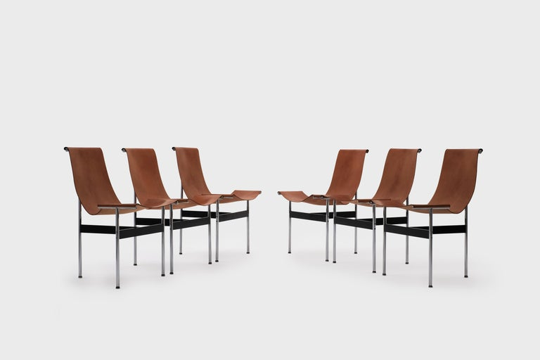 Mid-Century Modern T-Chairs by Katavolos, Kelley and Littell for ICF, 1952 For Sale