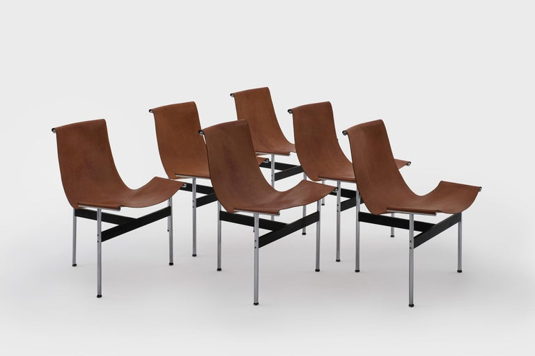 Patinated T-Chairs by Katavolos, Kelley and Littell for ICF, 1952 For Sale