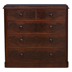T. Clear Victorian Mahogany Chest of Drawers