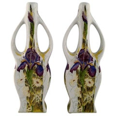 T. Colenbrander, the Netherlands, Two Art Nouveau Vases, 1930s