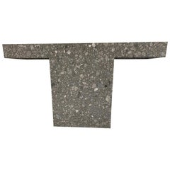 T-Console in Grey, Ceppo Marble
