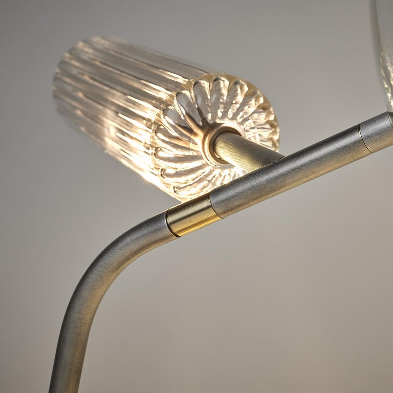 Contemporary T-Double Table Lamp For Sale