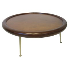 T. H. Robsjohn-Gibbings Bull Nose Walnut Coffee Table by Widdicomb