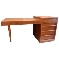 T. H. Robsjohn-Gibbings Walnut Desk Model I-695 Widdicomb, 1954